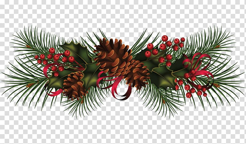 Christmas garland wreath clipart library Green leaf and red berry , Christmas Garland Wreath , Pine cone ... library