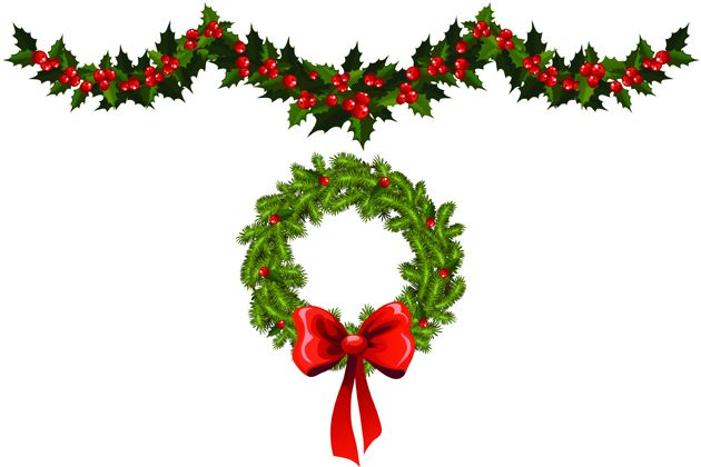 Christmas garland wreath clipart png christmas garlands and wreaths - Yahoo Image Search Results ... png