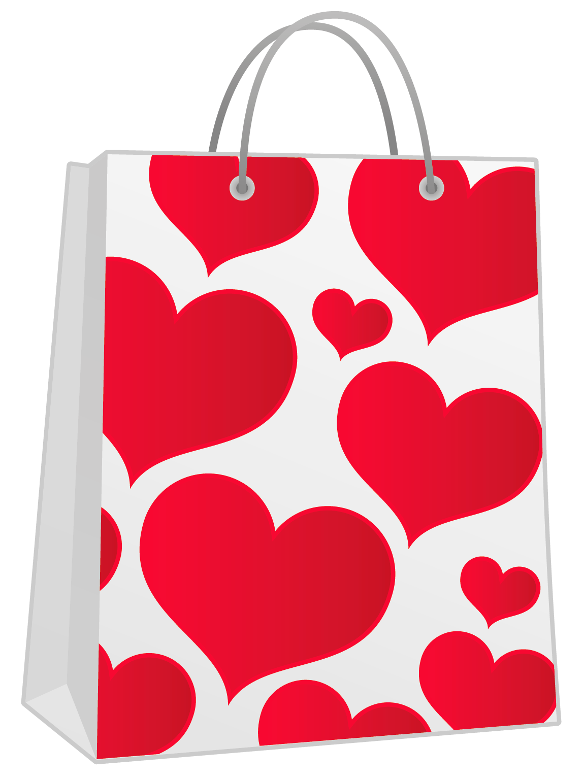 Christmas shopping bag clipart clip art download Valentine Red Gift Bag with Hearts PNG Clipart | Gallery ... clip art download