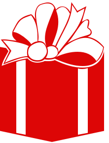 Free gifts public domain. Christmas gift clipart graphics