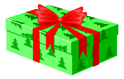 Christmas gift clipart graphics. Free gifts public domain