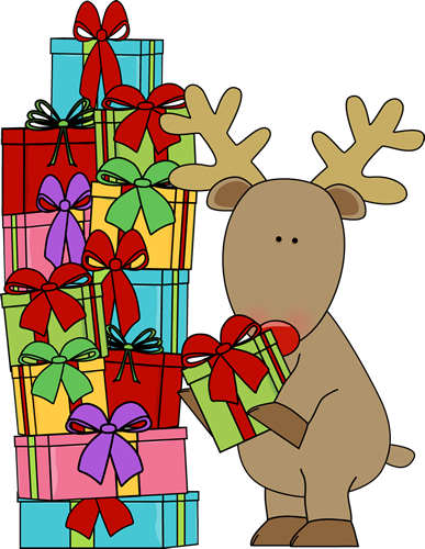 Christmas gift clipart graphics. Clipartfest free images reindeer