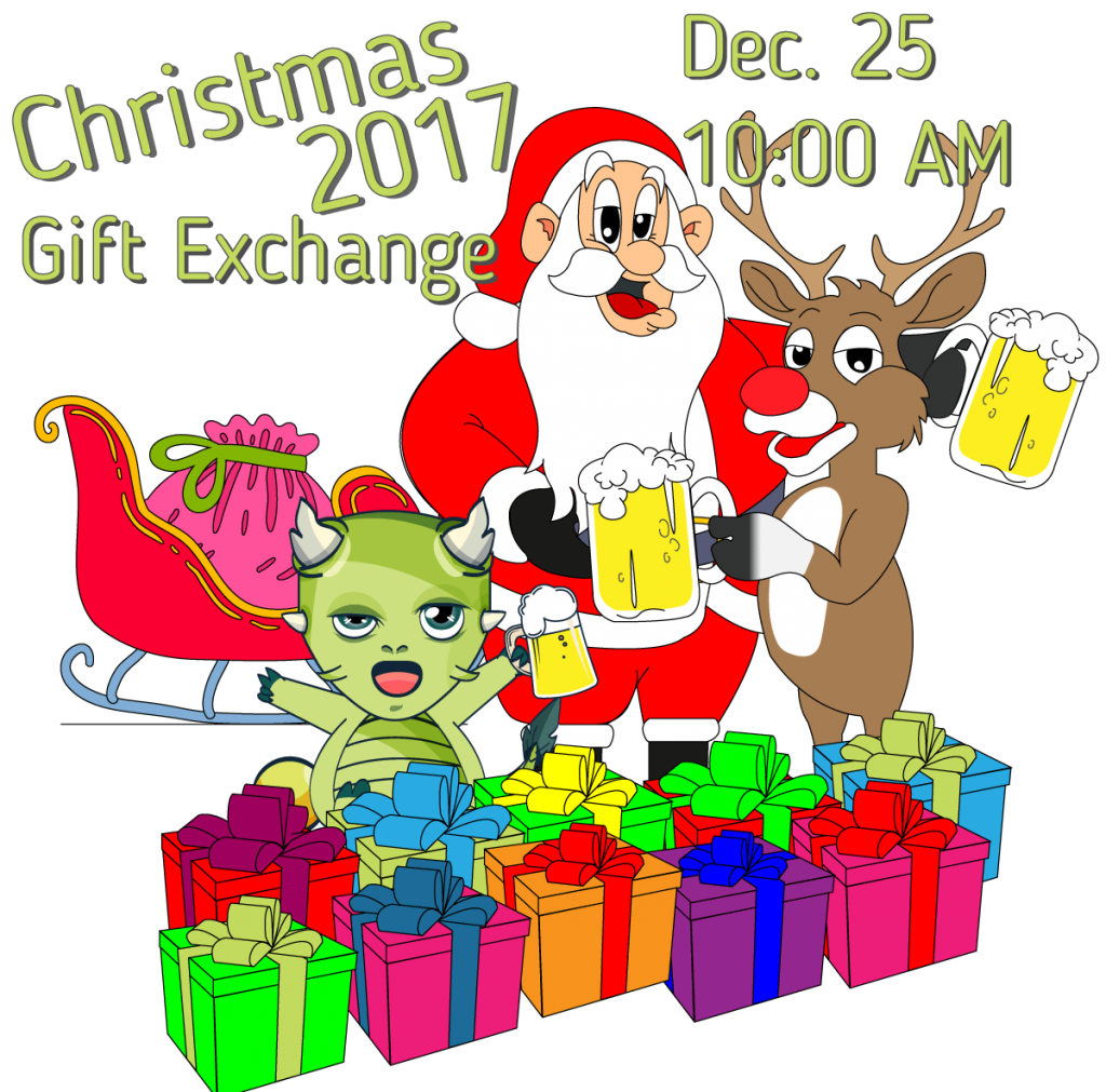 Christmas gift exchange clipart clipart free library Christmas Gift Exchange 2017 - Sleepy Dragon Hostel clipart free library