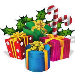 Clipart xmas presents image royalty free stock Clipart: Christmas Presents, Ribbons image royalty free stock