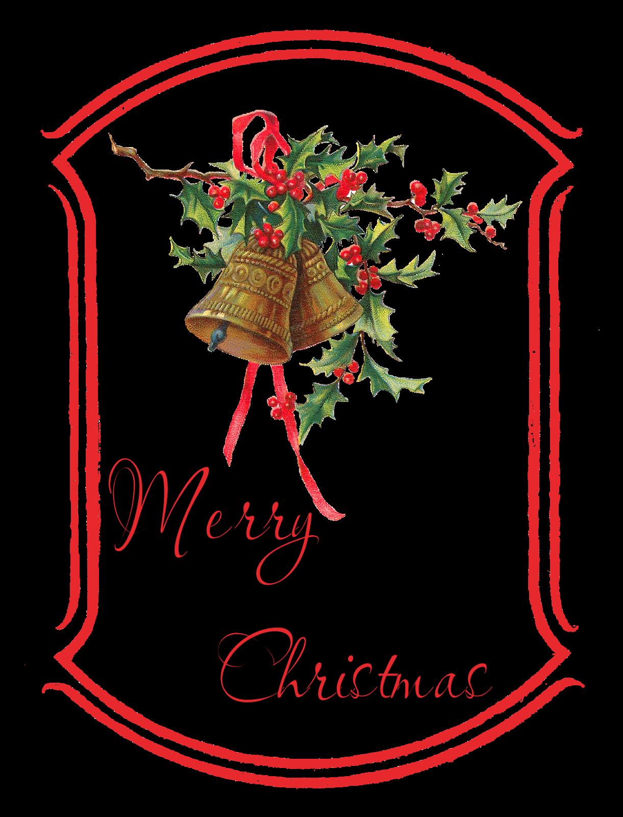 Christmas tag clipart