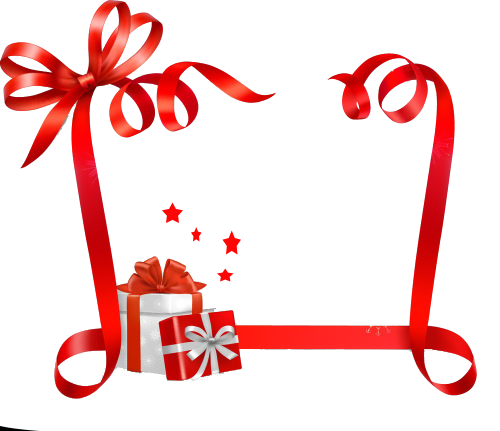 Christmas gift tag clipart clipart black and white library Paper Christmas Name tag Ribbon Sticker - Gift ribbons 1000*862 ... clipart black and white library