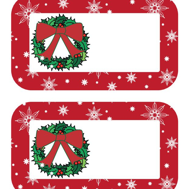 Christmas nameplates clipart clip art black and white download 40 Sets of Free Printable Christmas Gift Tags clip art black and white download