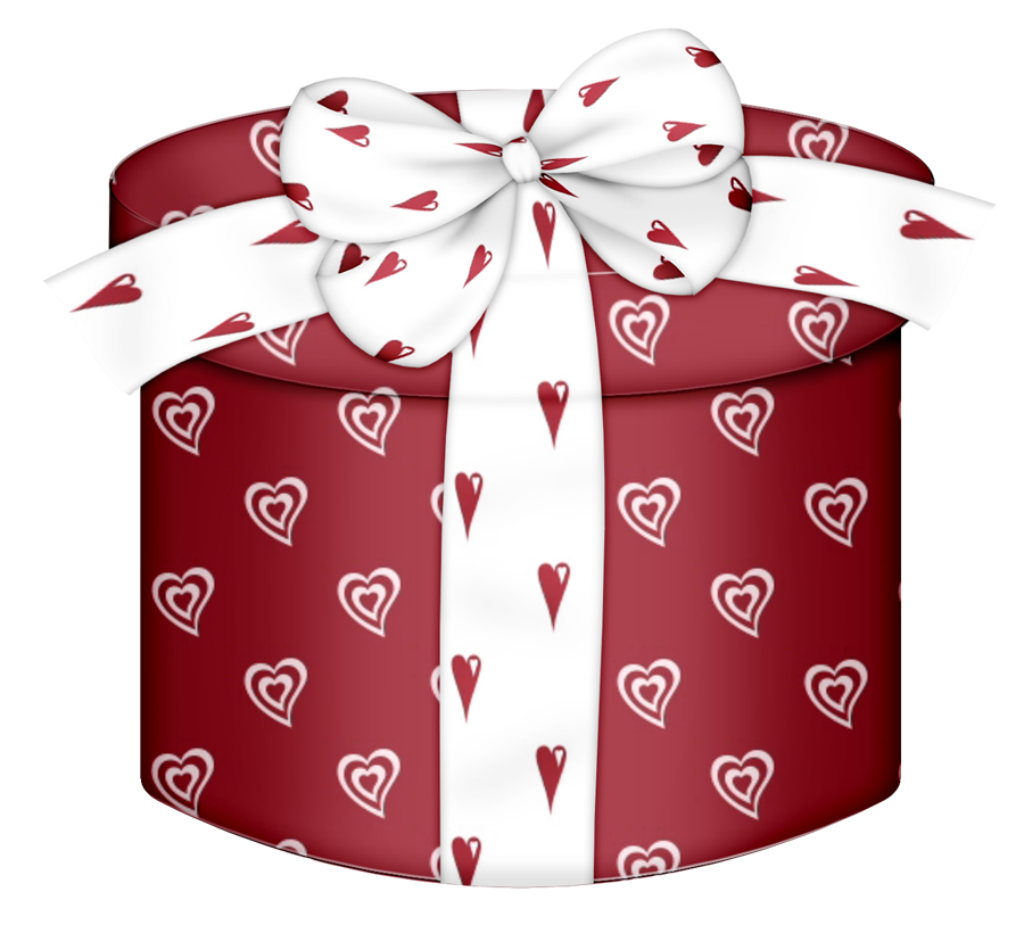Christmas gift wrapping clipart clip library download Red Heart Round Gift Box PNG Clipart   CLIPART   Pinterest   Box ... clip library download