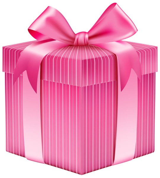 Christmas gift wrapping clipart graphic freeuse Pink Striped Gift Box PNG Clipart Picture   Planner Happiness ... graphic freeuse