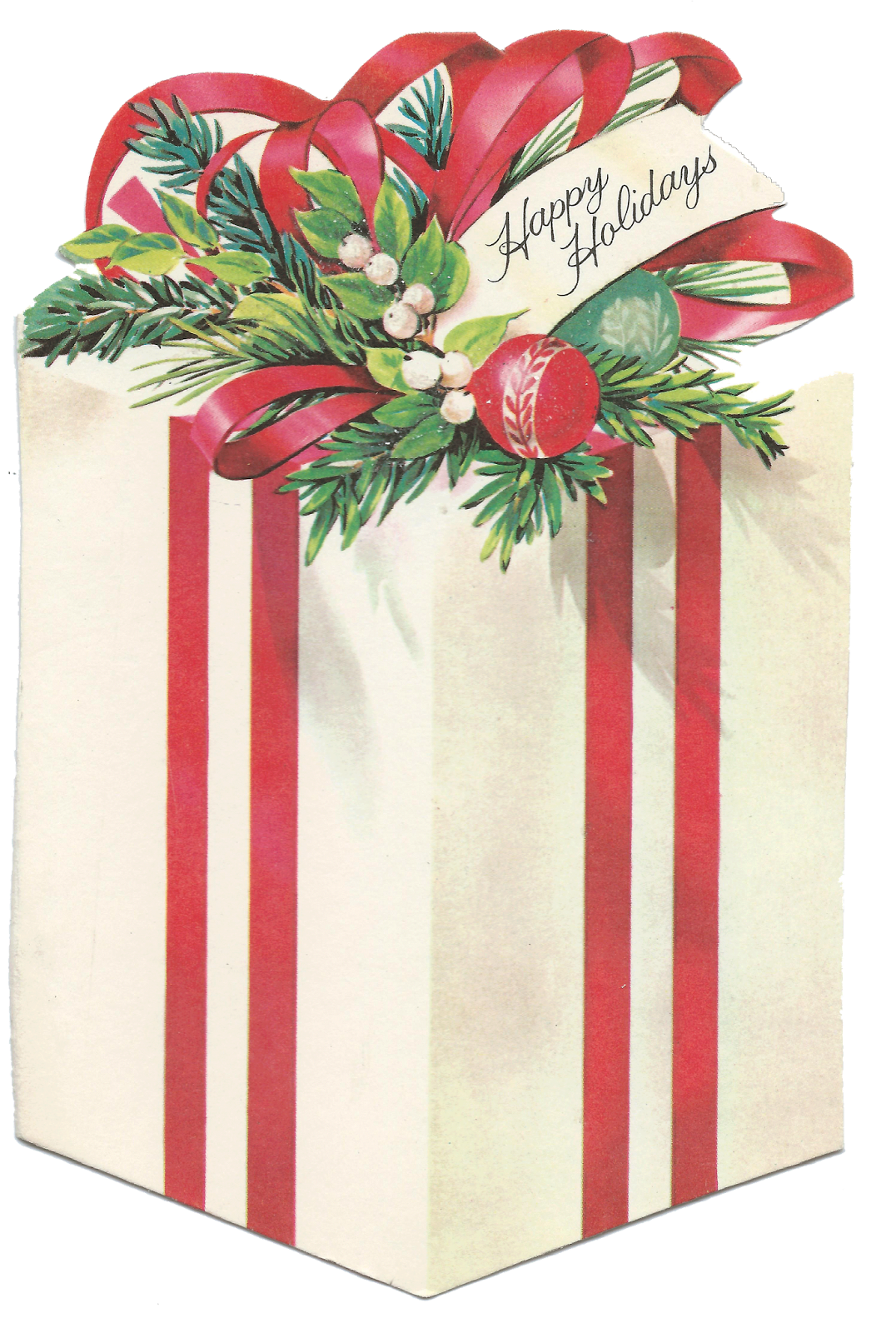 Free vintage christmas clipart vector stock Sweet Magnolias Farm: Vintage Christmas Present, Gift, Package ... vector stock