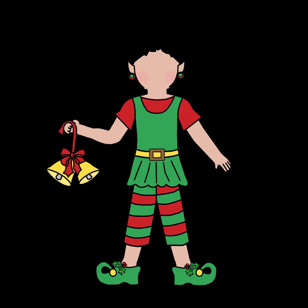 Elf playing basketball clipart vector stock Kids Christmas Party Invitation - Girl Elf – Mandys Moon ... vector stock