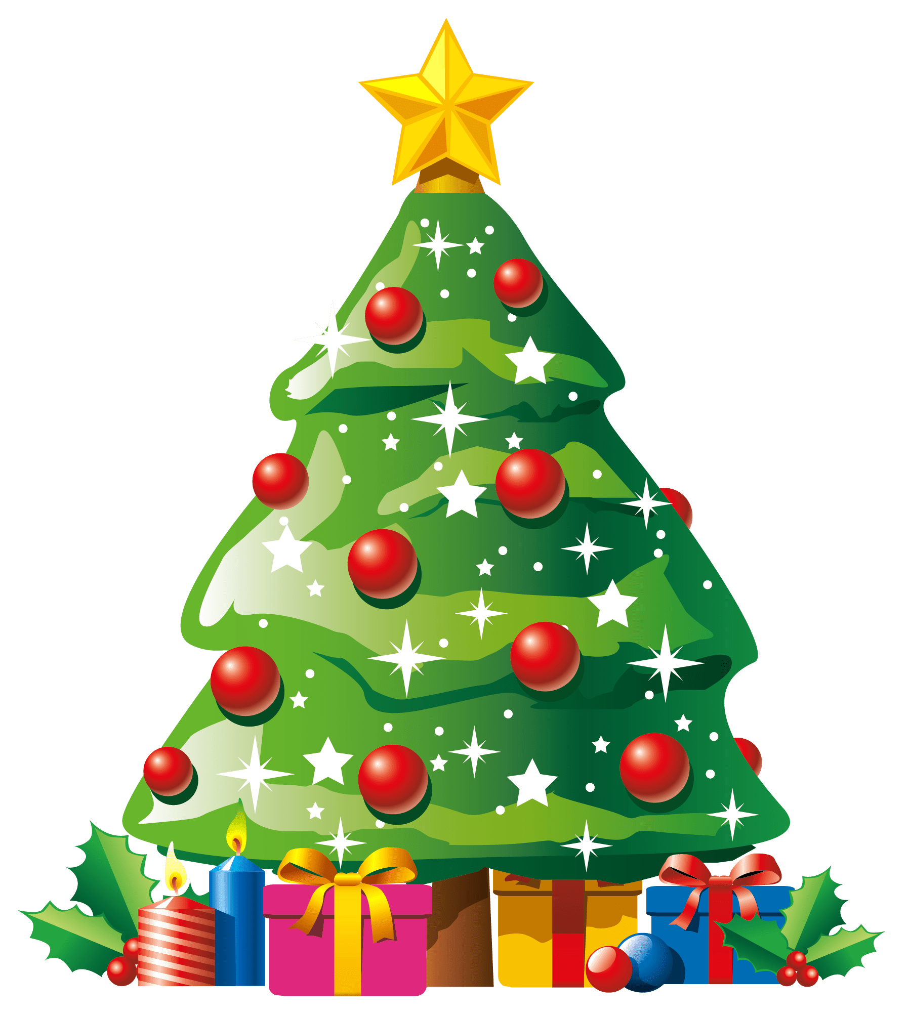 Christmas giving clipart clipart library Christmas Tree With Gifts Clipart – Merry Christmas And Happy New ... clipart library