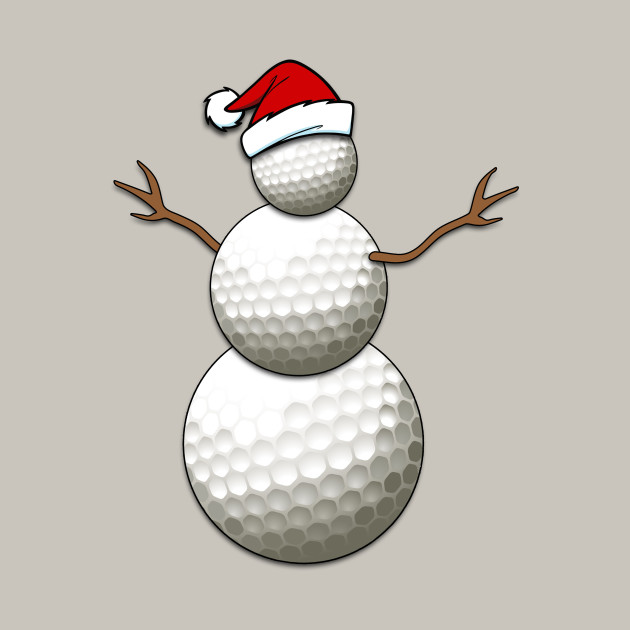 Christmas golf ball clipart svg black and white library Funny Christmas Golf Balls Snowman for Golf Players svg black and white library