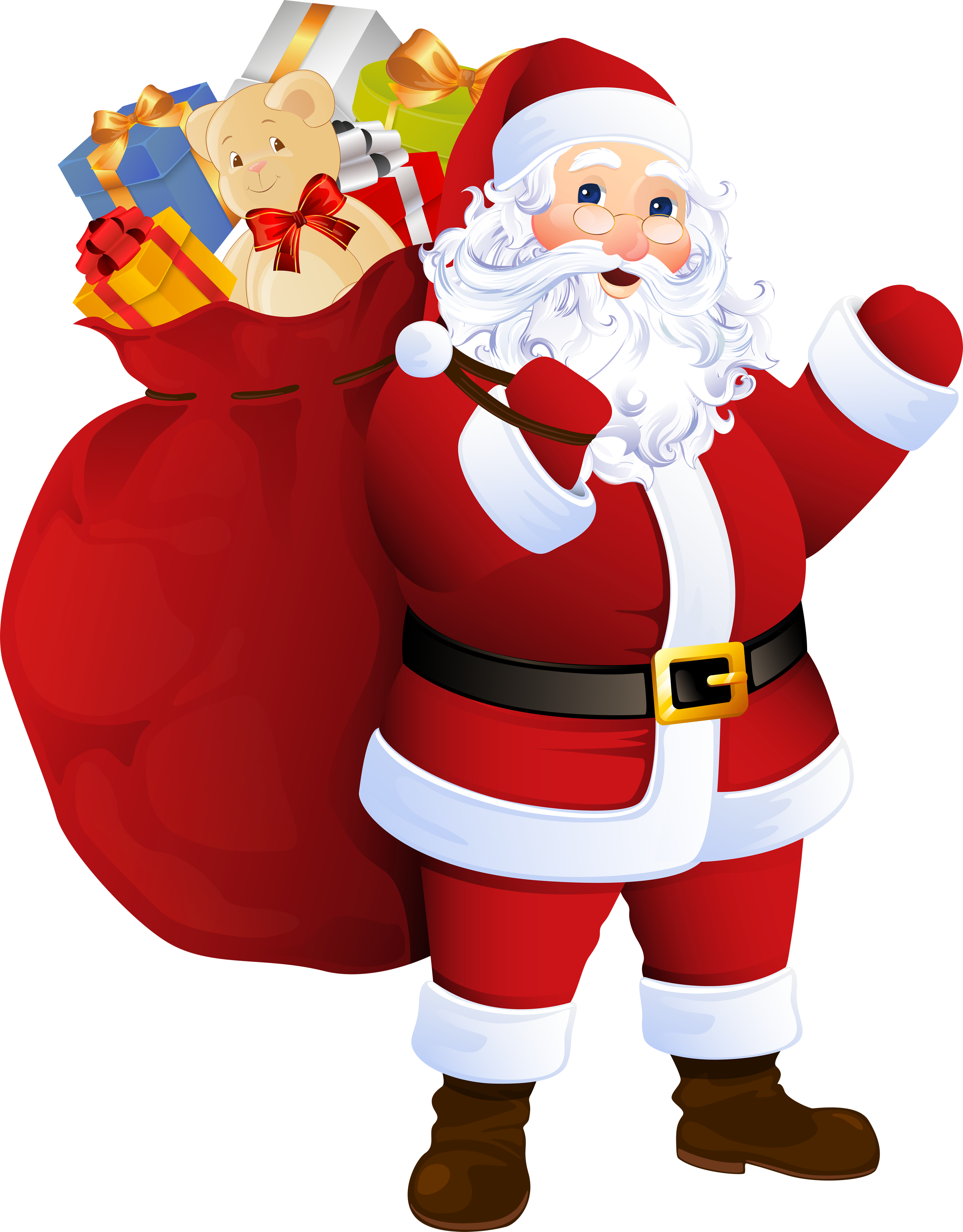 Santa in a car clipart clip library download Father Christmas Clipart (61+) clip library download