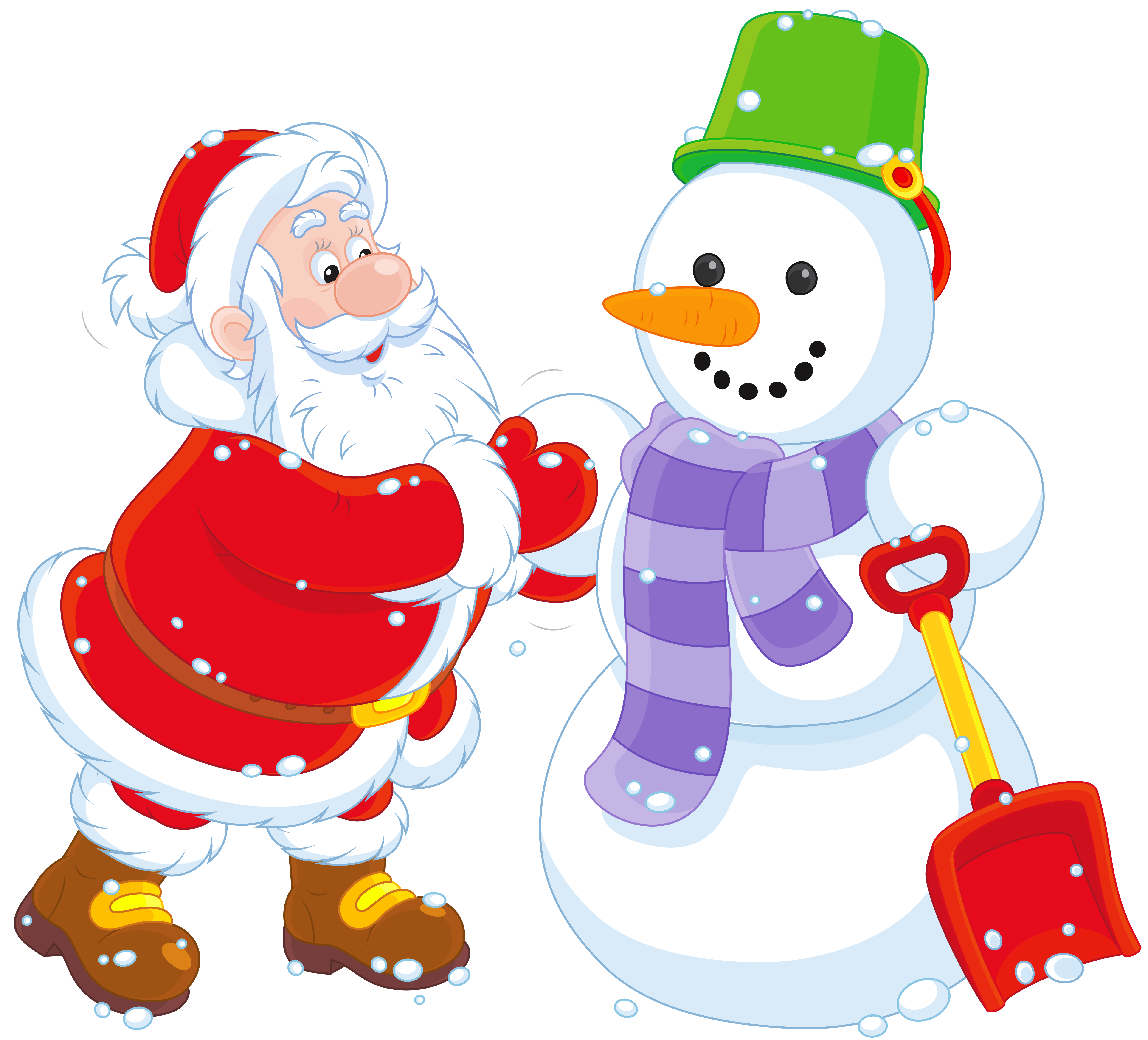 Snowman clipart with crown jpg library stock Transparent Santa and Snowman PNG Clipart | Gallery Yopriceville ... jpg library stock