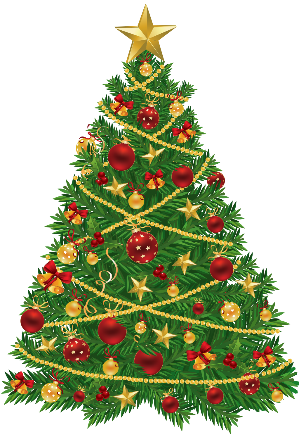 Decorate christmas tree clipart vector royalty free stock baby nursery ~ Glamorous Christmas Clipart Red Green Tree And ... vector royalty free stock