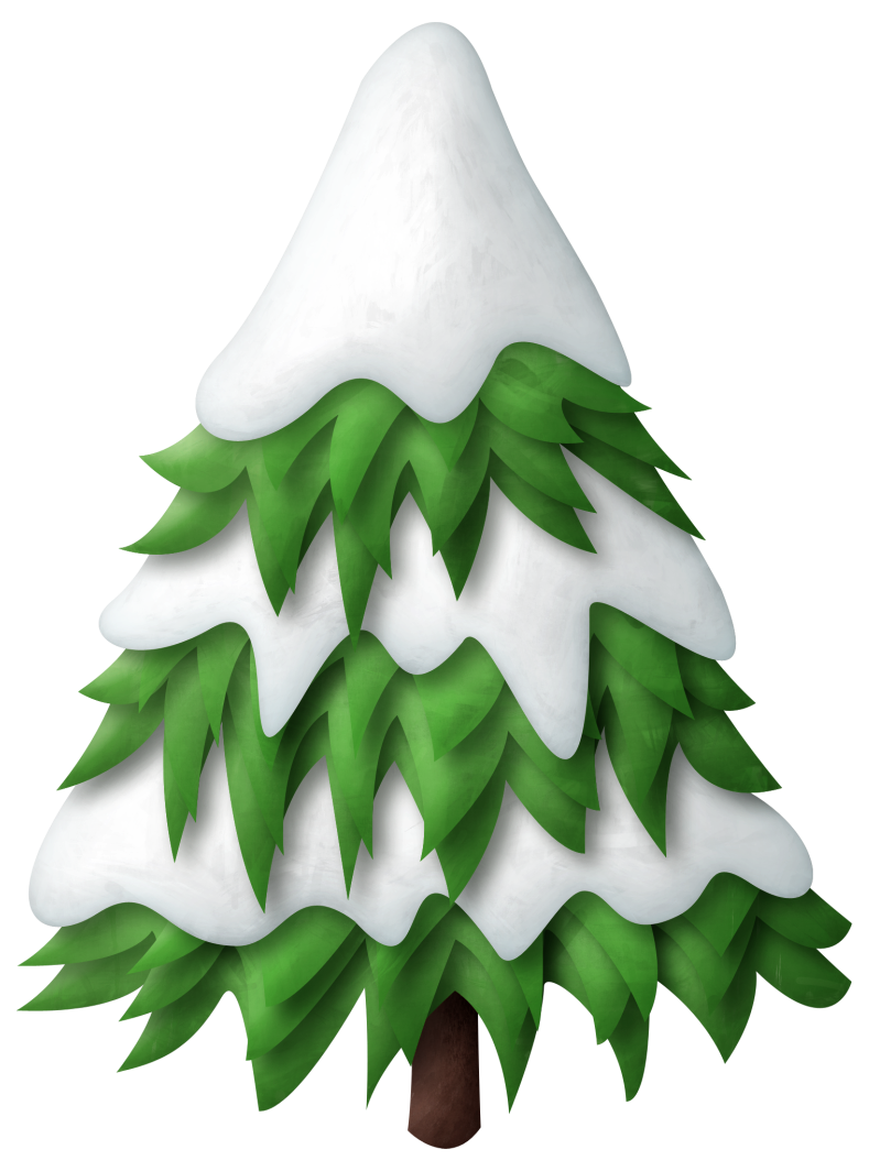 Winter tree clipart banner library download Green Snowy Christmas Tree PNG Clipart | trees | Pinterest | Snowy ... banner library download