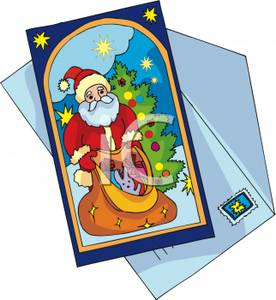 Christmas greeting cards clipart transparent library A Christmas Greeting Card - Royalty Free Clipart Picture transparent library