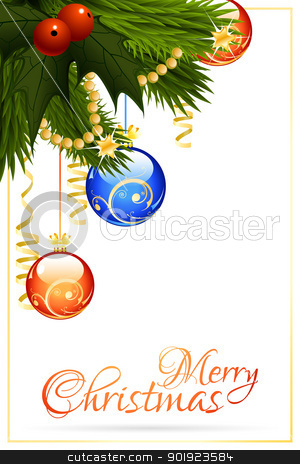 Christmas greeting cards clipart clipart black and white download Merry Christmas Greeting Card stock vector clipart black and white download