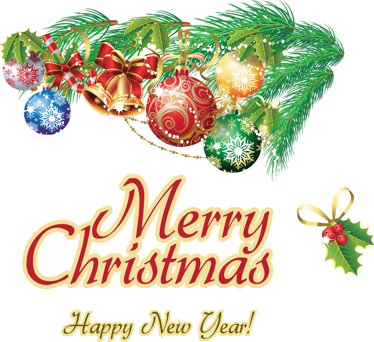 Christmas greeting clipart png free download Merry Christmas And Happy New Year Clipart (43+) Merry Christmas And ... png free download
