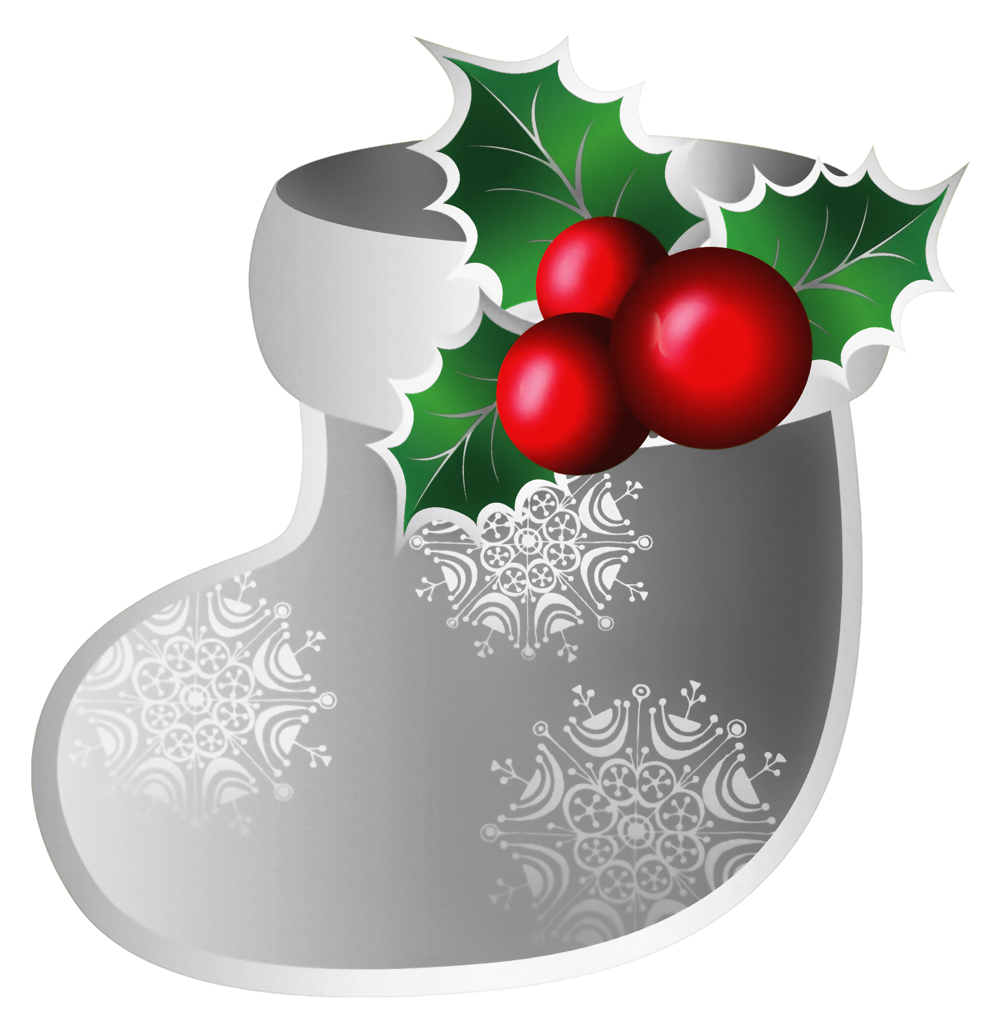 Christmas greetings clipart clip art royalty free Transparent Christmas Silver Stoking PNG Clipart | Gallery ... clip art royalty free