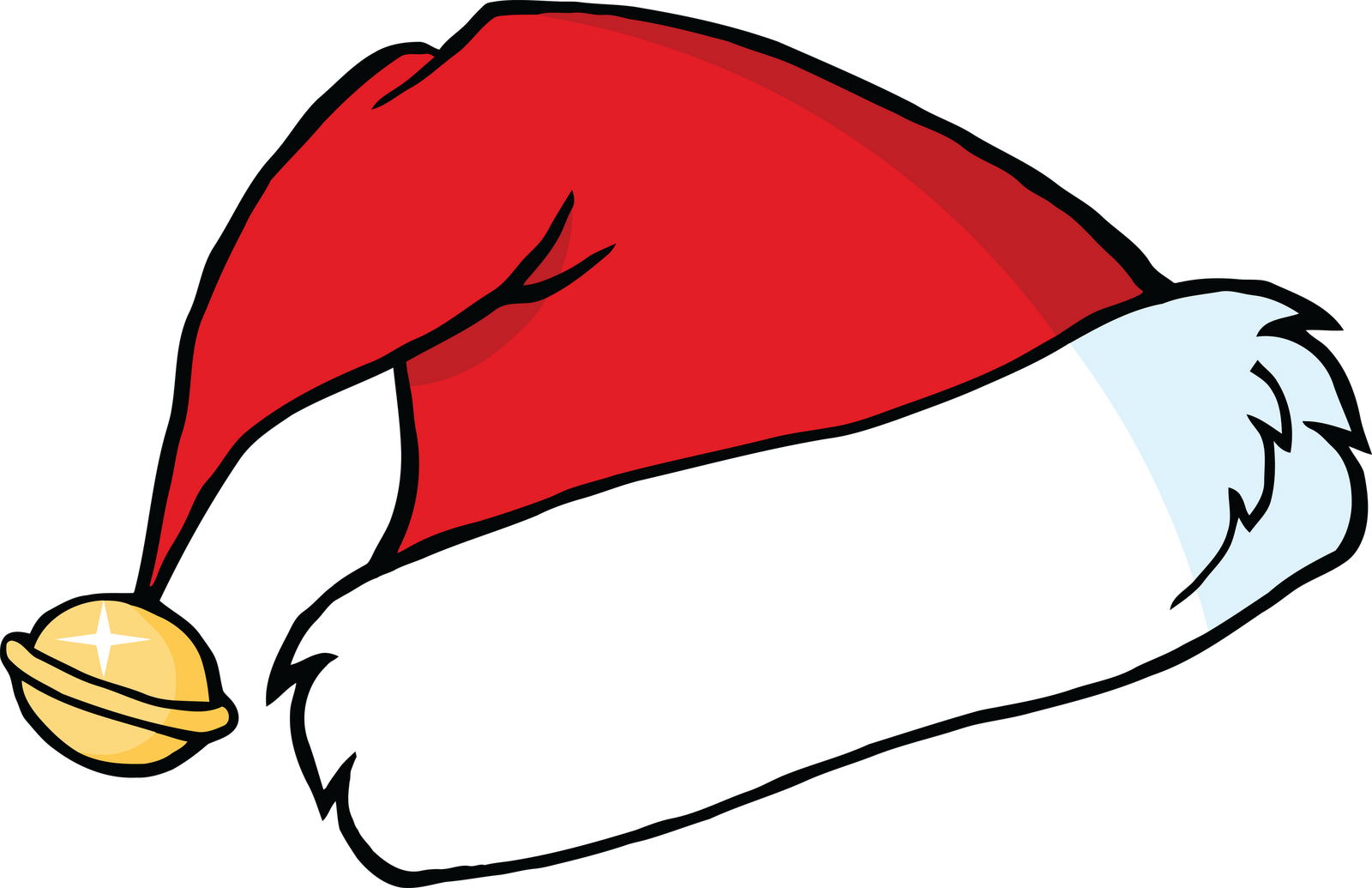 Christmas hat clipart outline