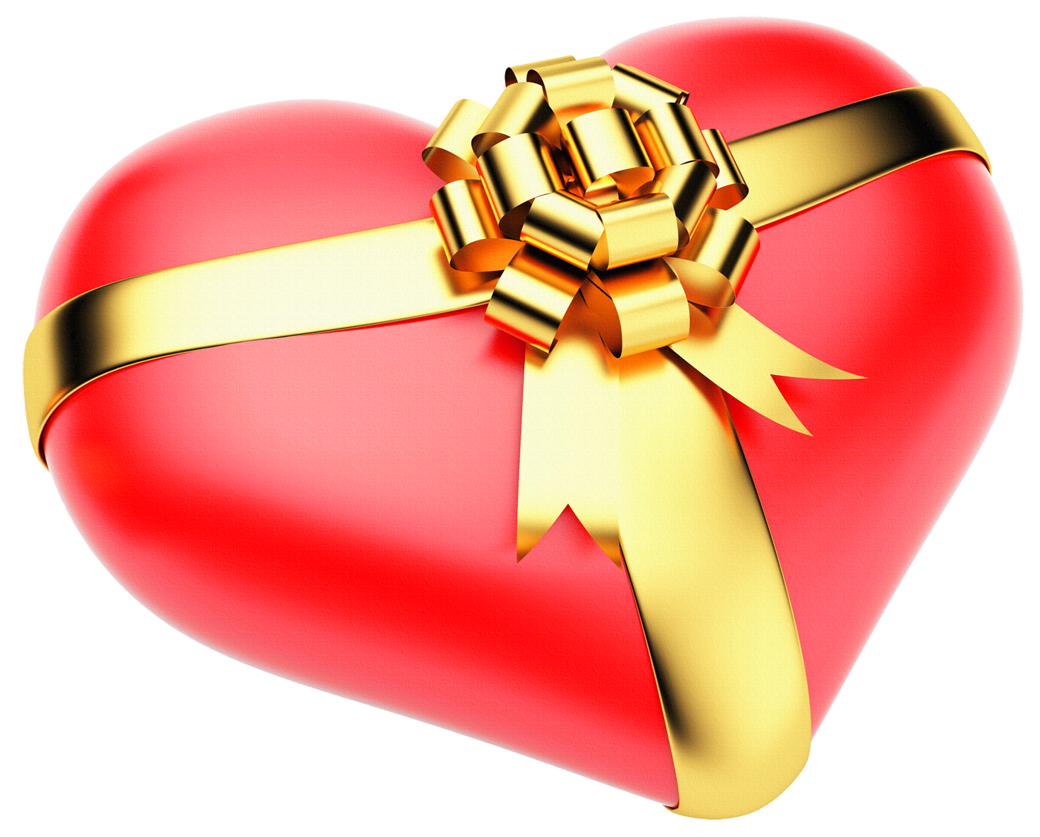 Free christmas heart clipart jpg download Large Red PNG Heart with Gold Bow | Gallery Yopriceville - High ... jpg download