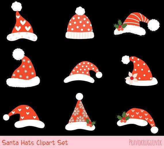Christmas hipster clipart svg download Cute Santa hat clipart, Santa Claus hat clip art, Funny Christmas ... svg download