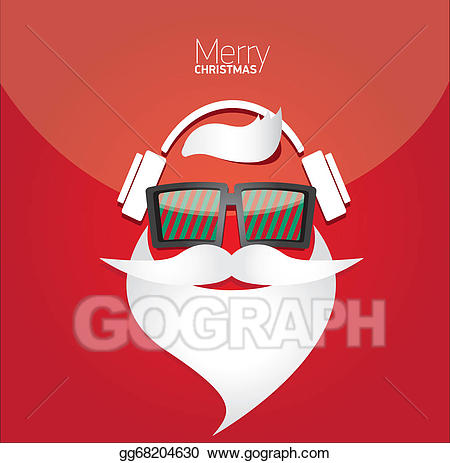Christmas hipster clipart royalty free library Vector Art - Christmas hipster poster for party or card. EPS clipart ... royalty free library
