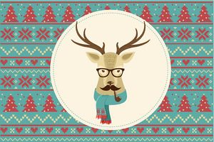 Christmas hipster clipart svg free library Vintage Hipster Christmas animals Clipart | ✏ Cute Animal ... svg free library