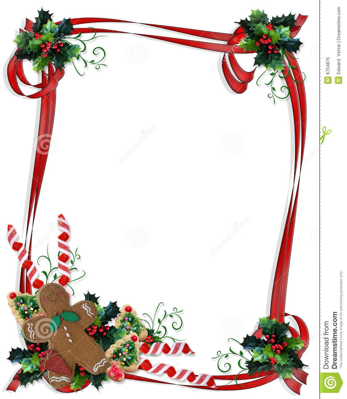 Christmas holidays border clipart svg transparent stock Free Christmas Cookie Border | and Illustration composition for ... svg transparent stock