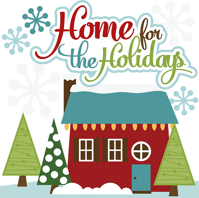 Holiday house clipart banner royalty free stock Home For The Holidays SVG cut files for scrapbooking christmas svg ... banner royalty free stock