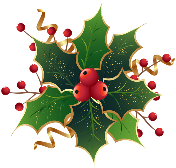 Christmas mistletoe clipart image freeuse library Christmas Holly Mistletoe PNG Clip Art Image | Crafting! | Pinterest ... image freeuse library