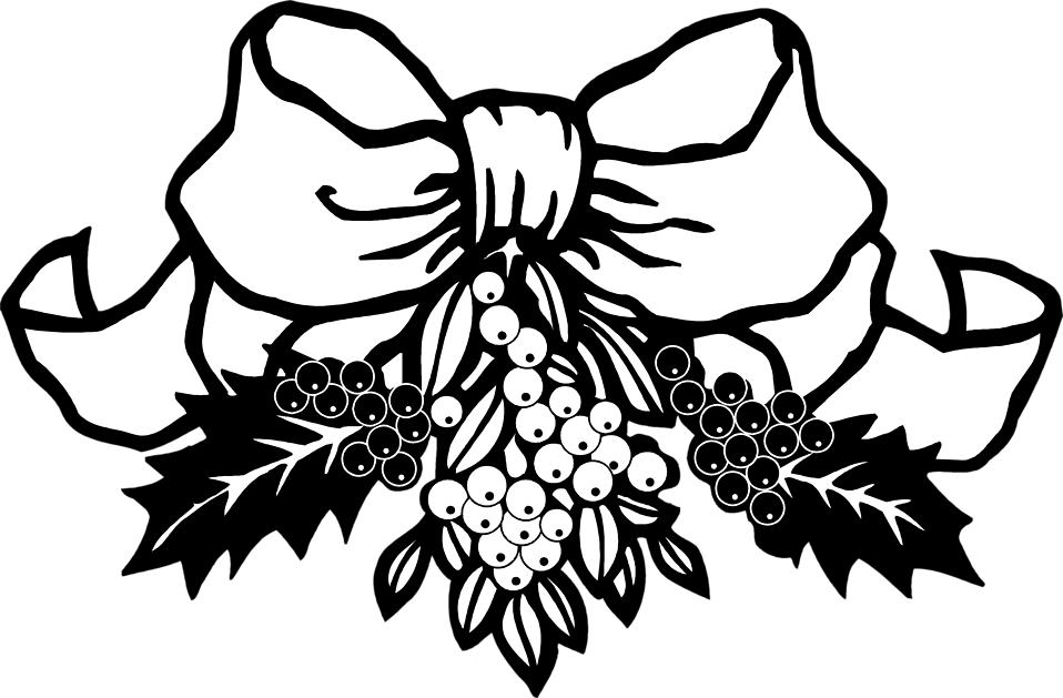 Christmas holly clipart black and white clipart library stock 28+ Collection of Holly Leaves Clipart Black And White | High ... clipart library stock