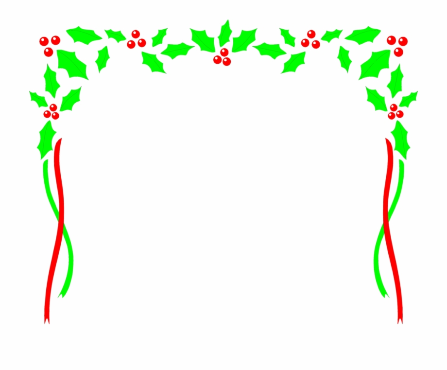 Free clipart christmas holly borders clip art transparent stock Christmas Holly Borders Border Clip - Frame Clipart Christmas ... clip art transparent stock