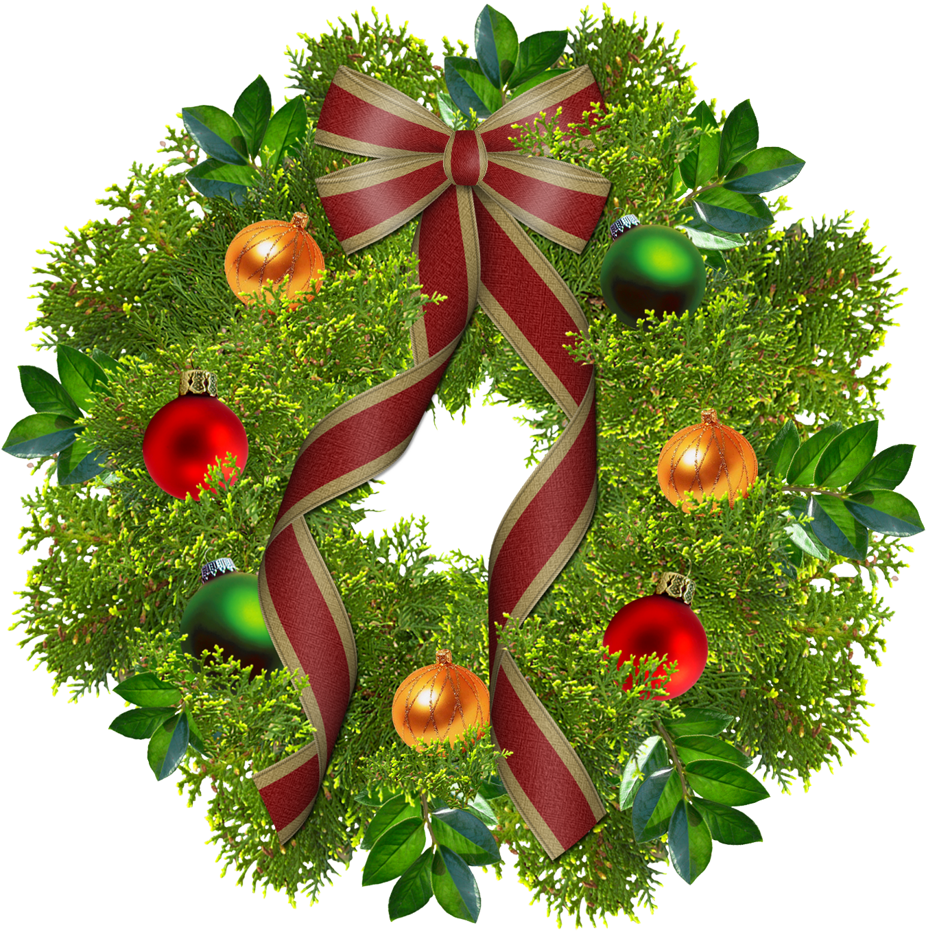 Christmas holly garland clipart jpg freeuse stock Free PNG HD Christmas Wreath Transparent HD Christmas Wreath.PNG ... jpg freeuse stock