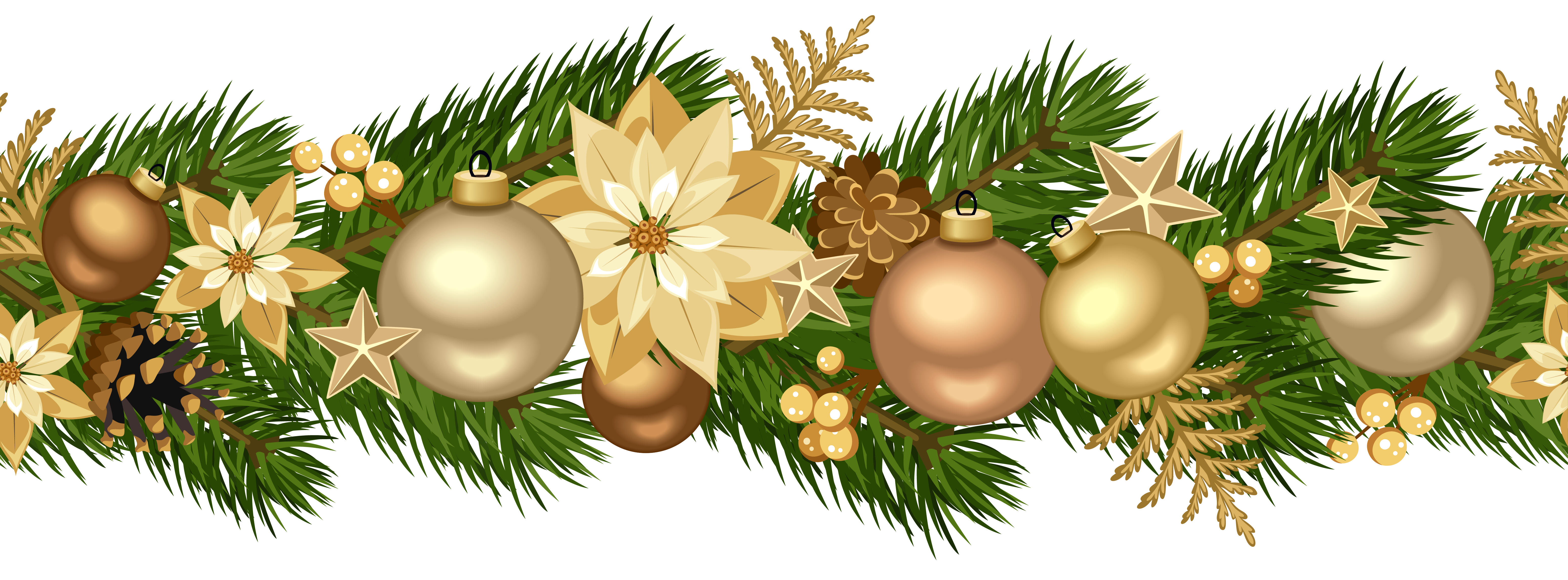 Free clipart christmas garland picture freeuse stock Christmas Decorative Golden Garland PNG Clip Art Image | Gallery ... picture freeuse stock