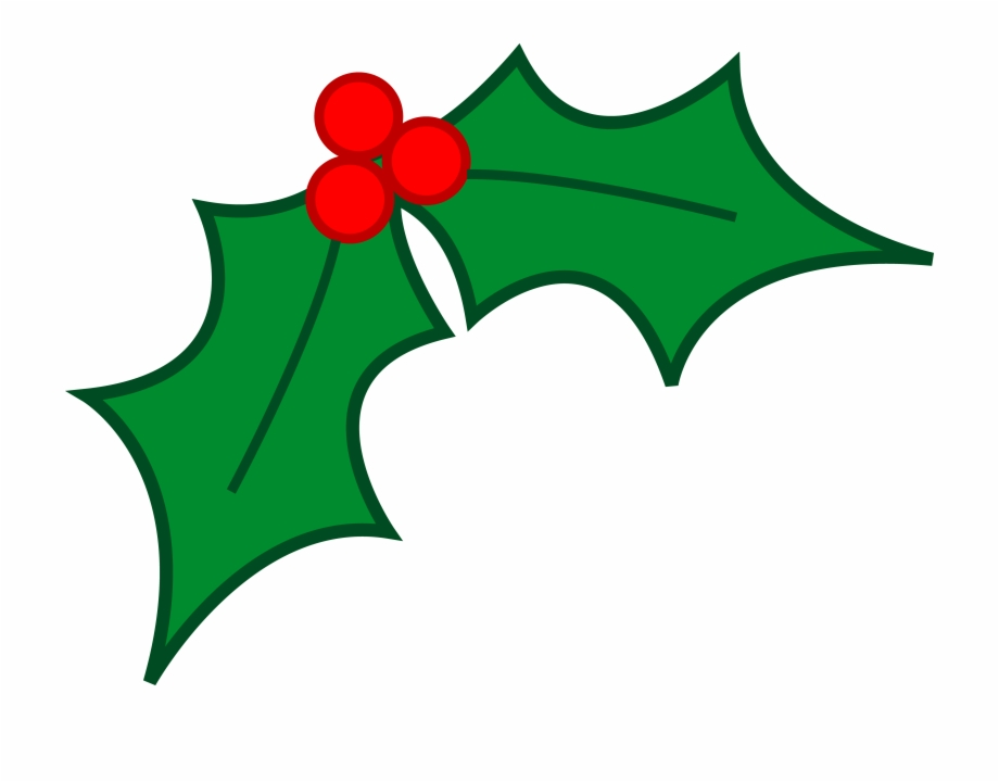 Christmas holly pictures clipart jpg black and white library Free Holly Clipart - Holly Leaf Christmas Png, Transparent Png ... jpg black and white library