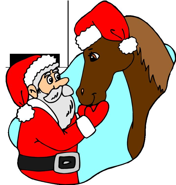 Christmas horse clipart vector stock Christmas Horse Clipart vector stock