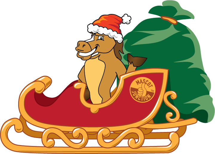Christmas horse clipart image royalty free stock Holiday Clip Art Downloads - Mascot Junction image royalty free stock