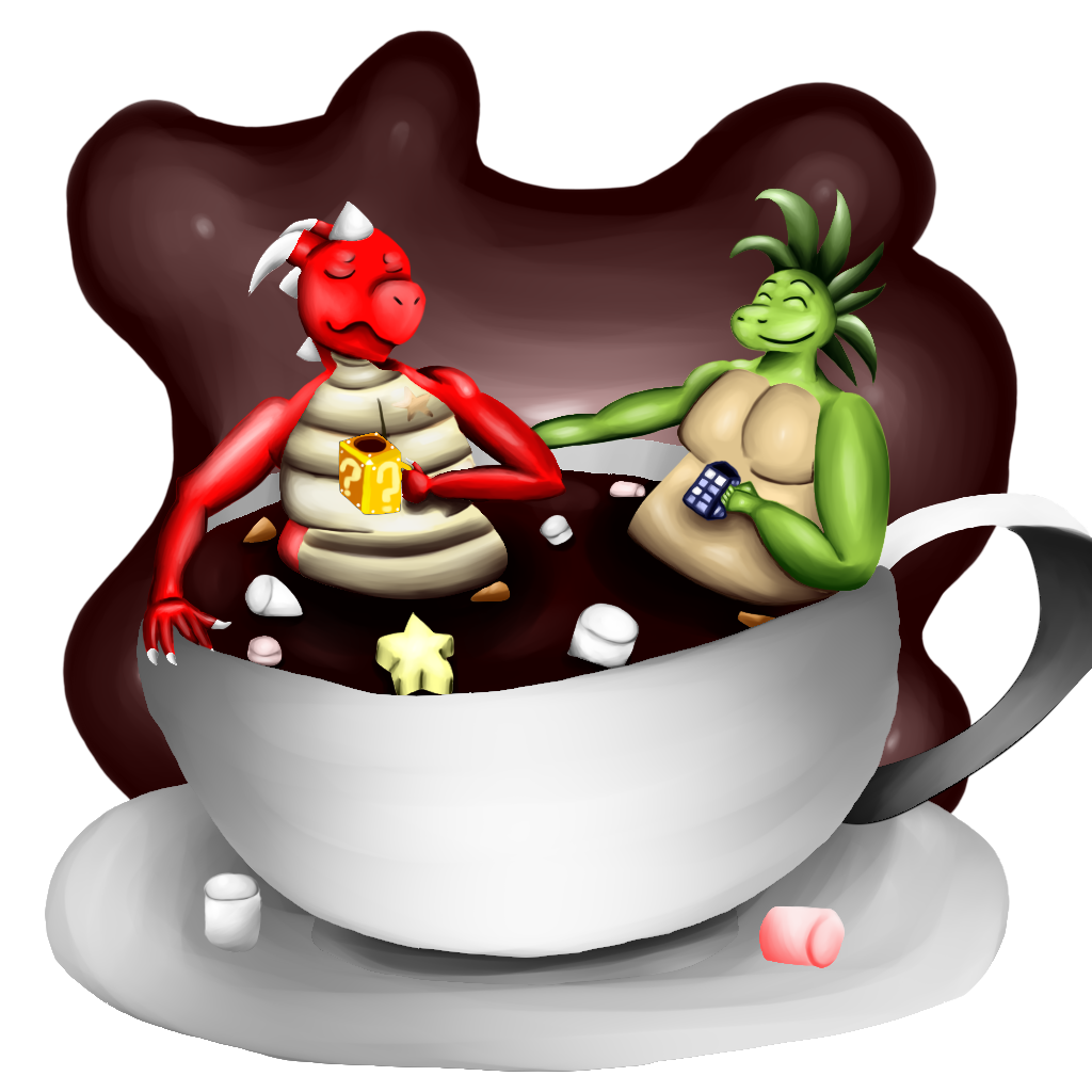 Christmas hot chocolate clipart jpg transparent stock Henry and Ryex in hot chocolate cup by DraggyStar on DeviantArt jpg transparent stock