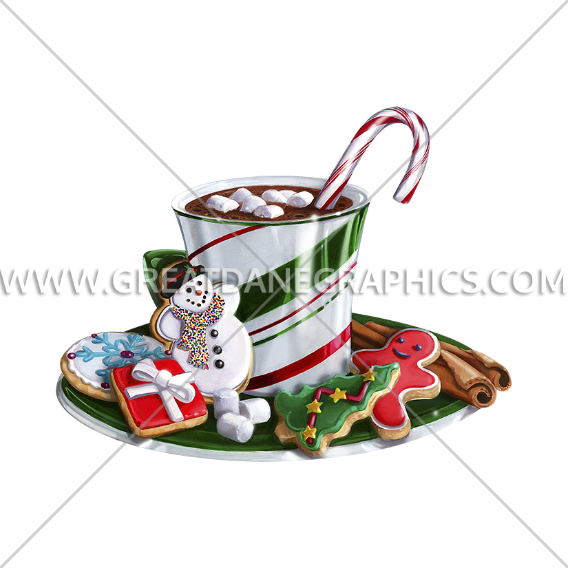 Christmas hot chocolate clipart graphic royalty free Christmas Hot Chocolate | Production Ready Artwork for T-Shirt Printing graphic royalty free