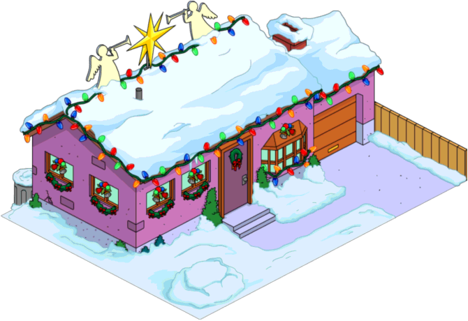 Christmas house decorations clipart vector free download Light 'em Up: Christmas Lights In SpringfieldThe Simpsons Tapped Out ... vector free download