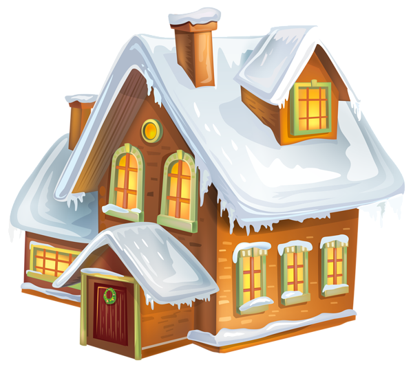 Christmas houses clipart vector library stock Christmas Winter House Transparent PNG Clip Art Image | Gallery ... vector library stock