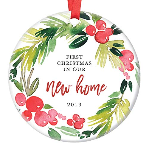 Christmas housewarming clipart png free stock Amazon.com: New Home Christmas Ornament 2019 First Year In Our New ... png free stock