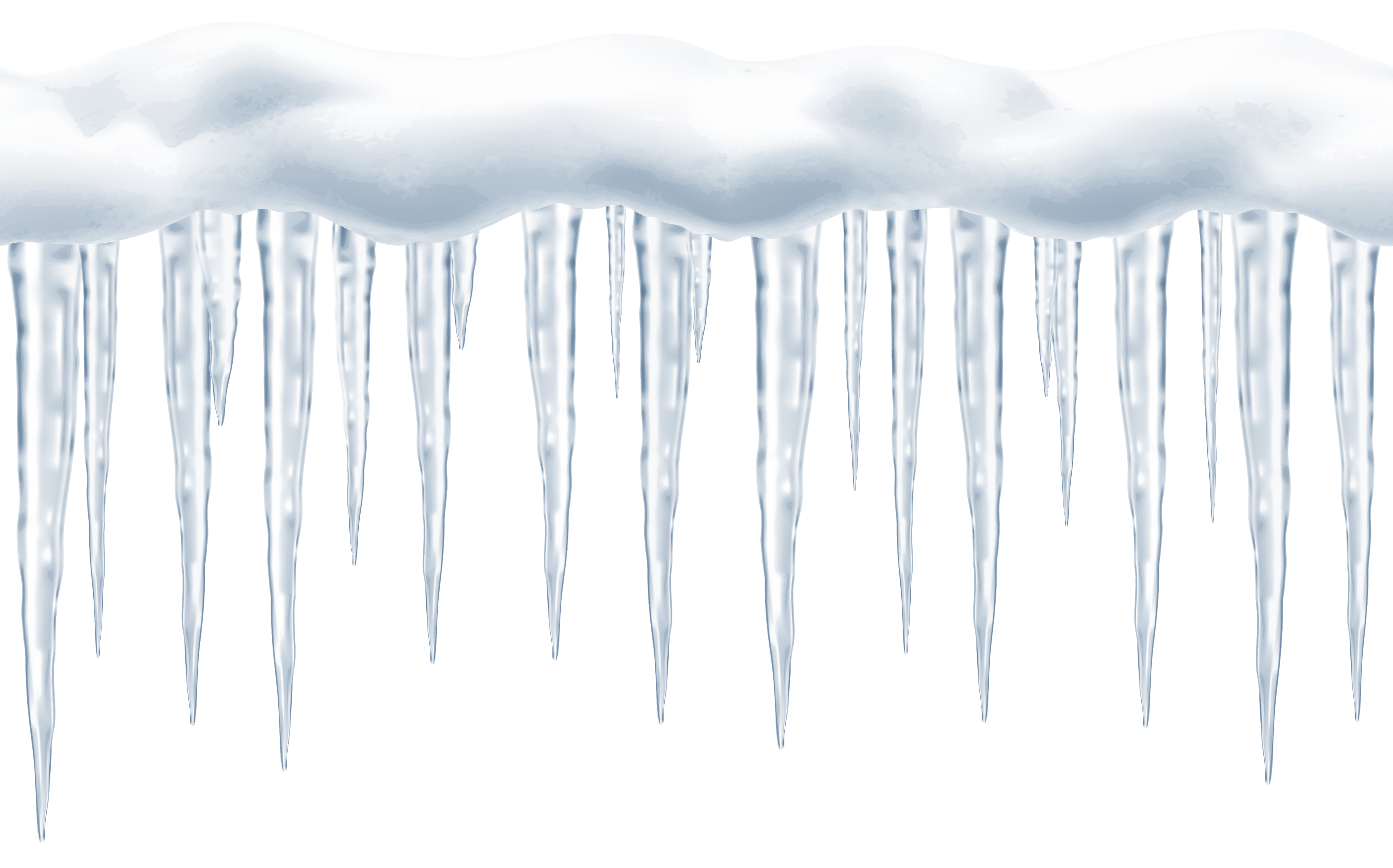 Christmas icecycle clipart picture clip art black and white stock Large Icicles Transparent PNG Clip Art Image | Gallery Yopriceville ... clip art black and white stock