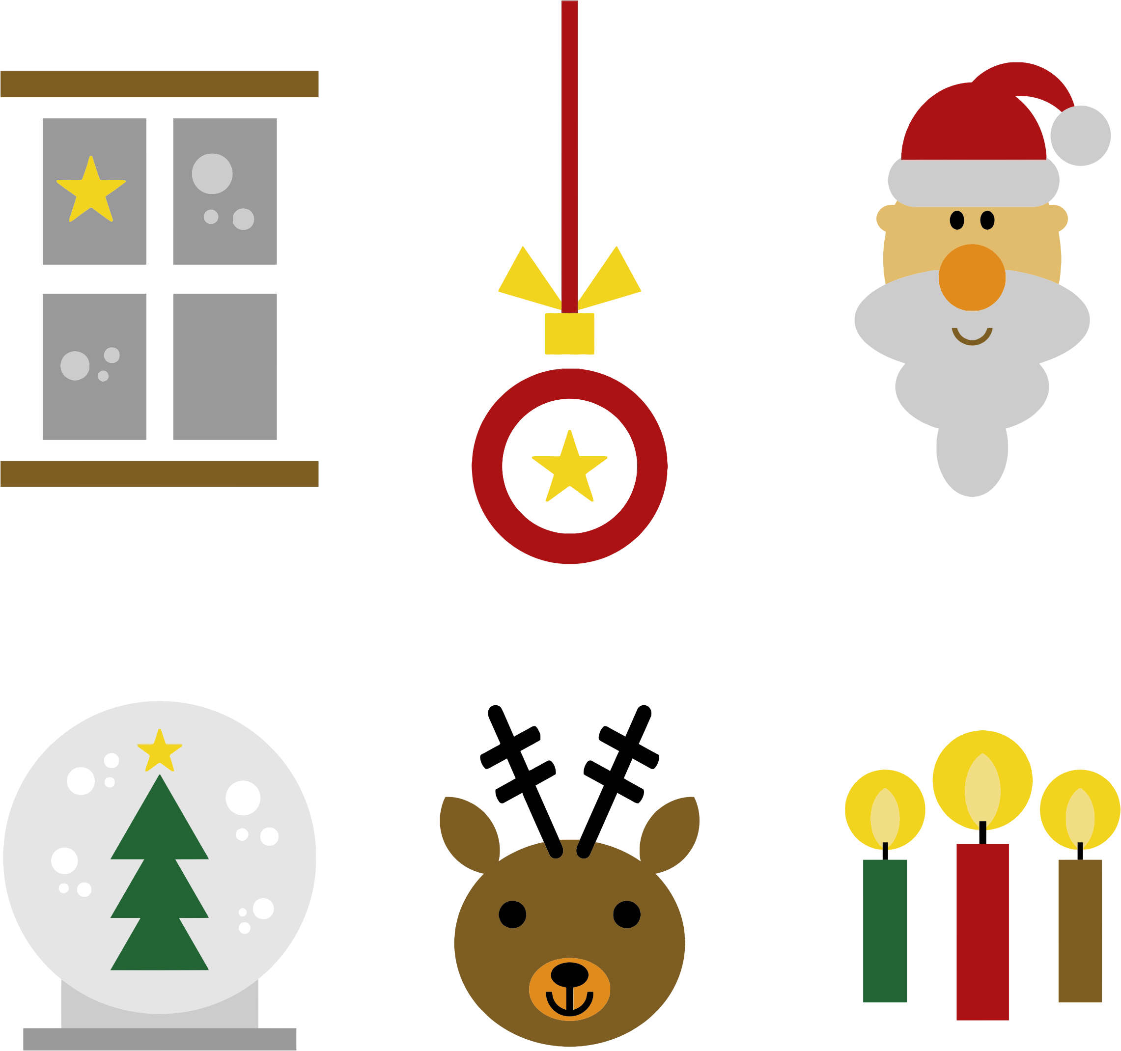 Christmas icons clipart royalty free stock Clipart - Festive Christmas Icons royalty free stock