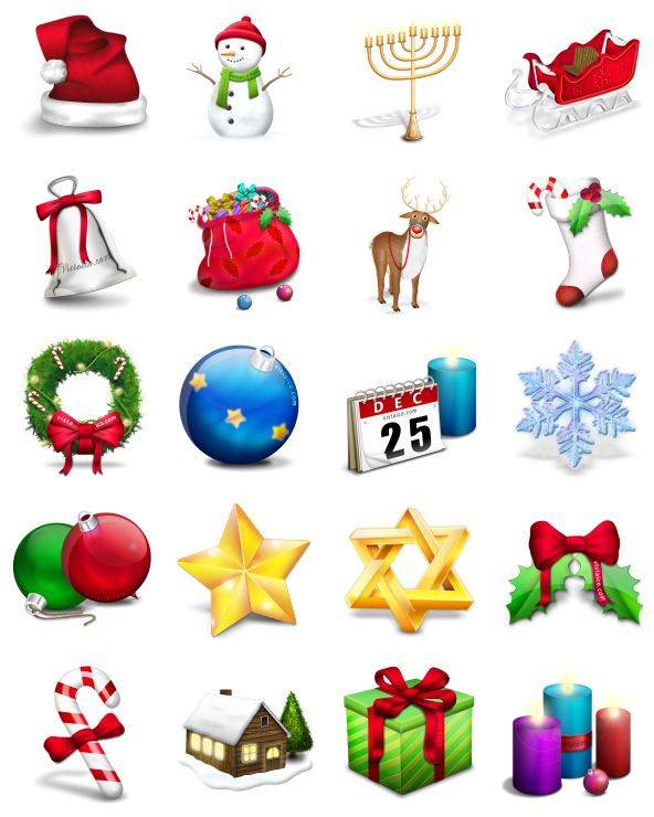 Christmas icons clipart clip transparent library VISTAICO CHRISTMAS - 25 Free Icons, Icon Search Engine clip transparent library