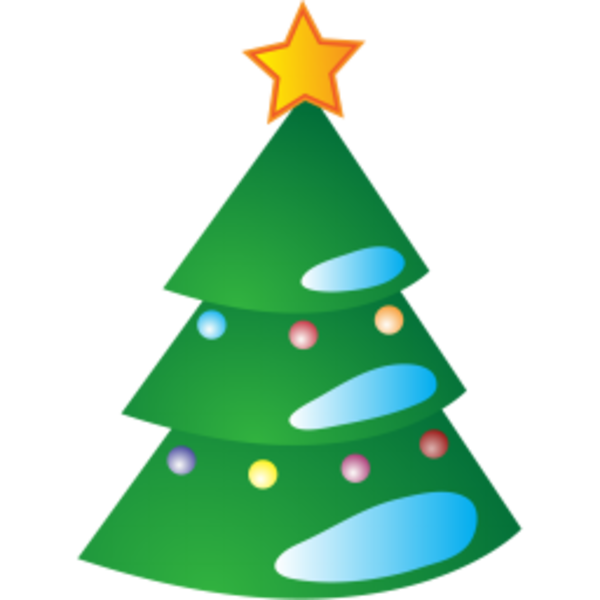 Christmas icons clipart picture freeuse library New Year Tree | Free Images at Clker.com - vector clip art online ... picture freeuse library