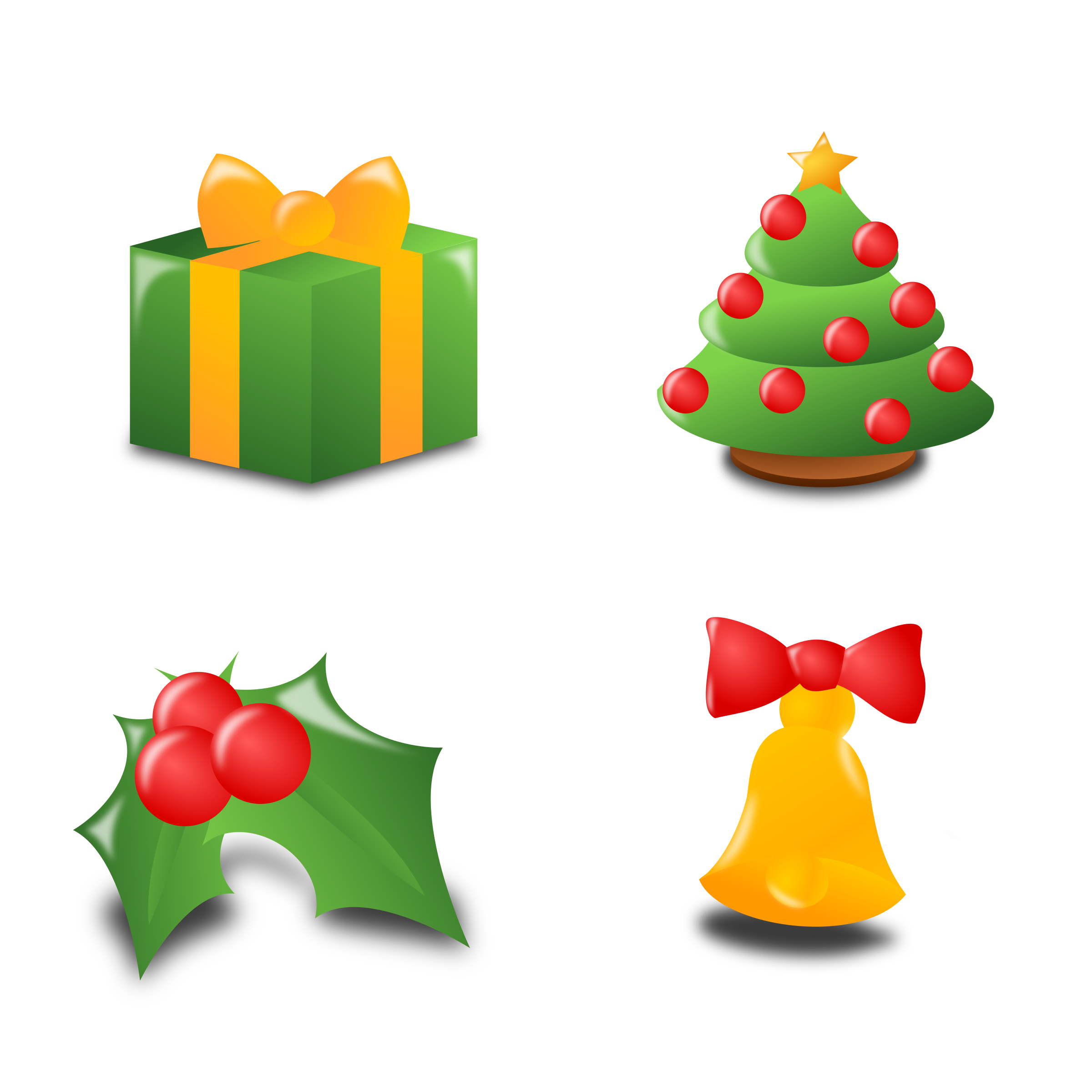 Christmas icons clipart clip art transparent stock Clipart - Christmas Icon Set Collection clip art transparent stock